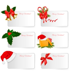 set of winter christmas banners vector image vector image