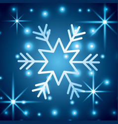 snowflake christmas decoration starry blue vector image