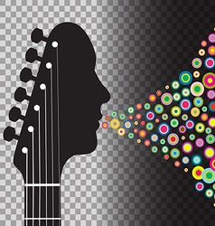 Transparent BG Guitar vector image vector image