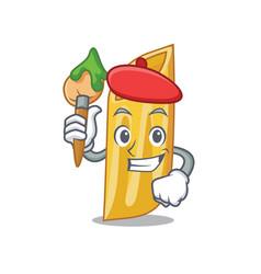 Artist penne pasta character cartoon vector