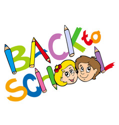 back to school theme 3 vector image