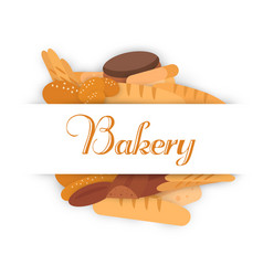Bakery banners baking bread and cakes vector
