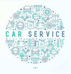Car service concept in circle vector