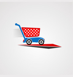 cart automotive car logo icon element and vector image