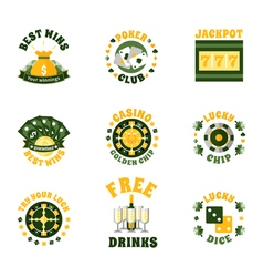 Casino Icons Badges Set vector