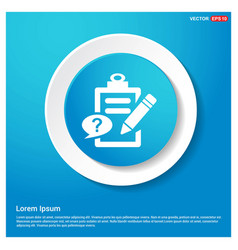check list ok icon abstract blue web sticker vector image