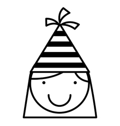 children with party hat celebration vector image