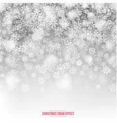Christmas snow 3d effect vector