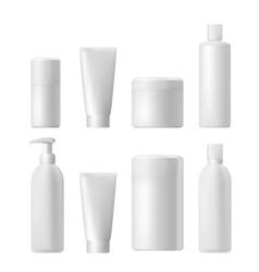 Cosmetic product Plastic 3d bottle Bottle vector image vector image