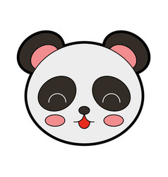 Cute panda bear face vector