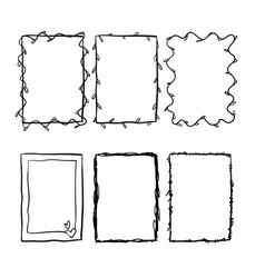 doodle frame collection vector image