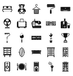 Dwelling place icons set simple style vector
