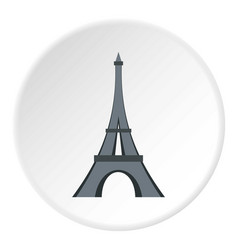 Eiffel tower icon circle vector