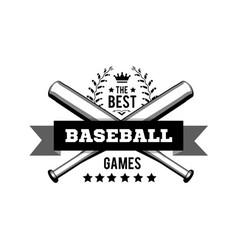 emblem for best baseball games consisting a vector image