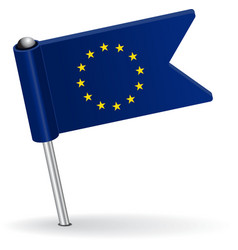 European Union pin icon flag vector image