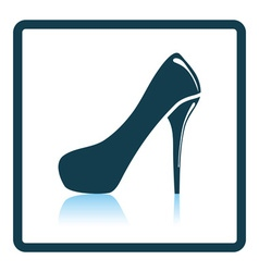 Female shoe with high heel icon vector image