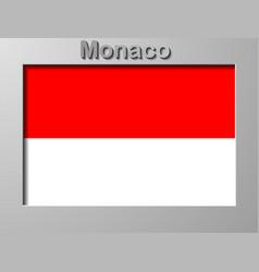 Flag monaco with brush stroke effect monaco vector