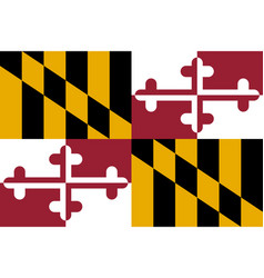 Flag of the usa state of maryland vector