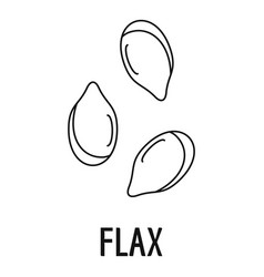 Flax icon outline style vector