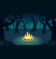 Forest campfire vector