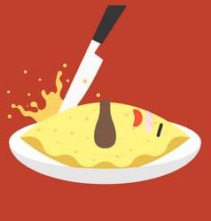 funny character japanese dish vector image