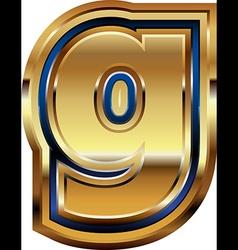 Golden Font Letter g vector image