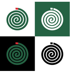 Green mosquito coil icon design insect repellant vector