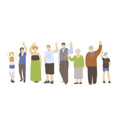 Group happy joyfull different generation people vector