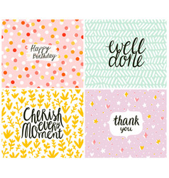 happy cards set 3 templates vector image