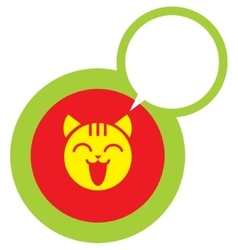 Happy cat face icon vector image