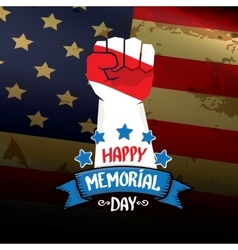 Happy Memorial Day background vector image