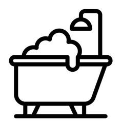Hygienic bathtub icon outline style vector