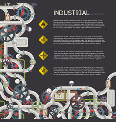 Industrial steam transfer concept vector