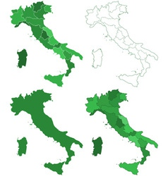 Italy maps vector image vector image