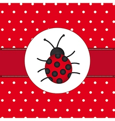 Lady bug background vector