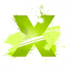 Letter X background vector image
