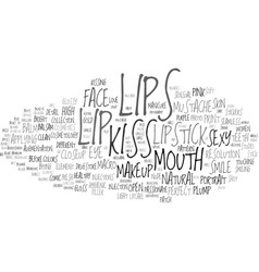Lip word cloud concept vector
