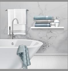 Lnterior bathroom vector