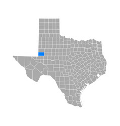 map andrews in texas vector image