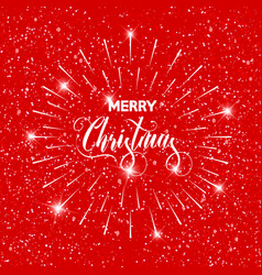 merry christmas text design card template vector image