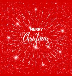 Merry christmas text design card template vector