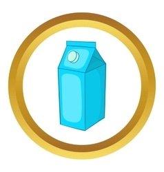 Milk carton icon vector