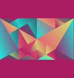 Minimal multicolored geometric gradient triangle vector