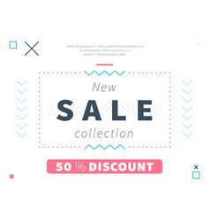 modern discount web page design vector image