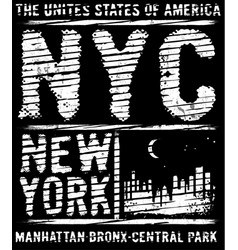 newyork city typography slogan t-shirt graphics vector image