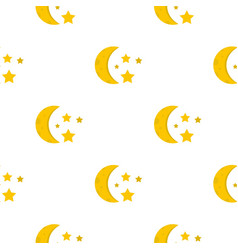 Night sky with stars and moon pattern seamless vector