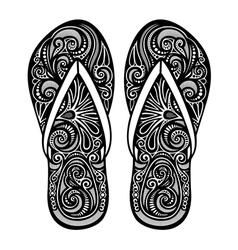 Ornate women s slippers vector