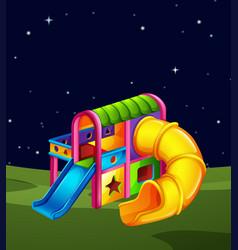 playground scene at night vector image