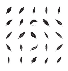 Plume glyph icon vector
