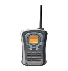 Portable handheld radio icon cartoon style vector image